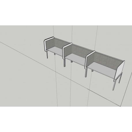 Decibel Paravan zostava na 3 stoly