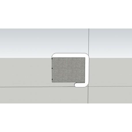 Izolačný paravan Decibel - bočný panel